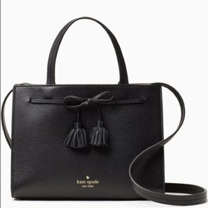 Kate Spade Leather Small Satchel Hayes Black/Warm